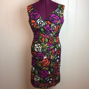 R&K Originals Stained Glass Floral Wiggle Dress